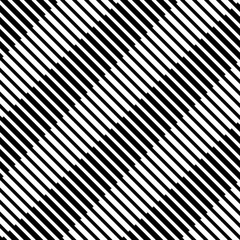 Vector seamless pattern. Modern stylish texture. Monochrome geometric pattern with diagonally arranged strips