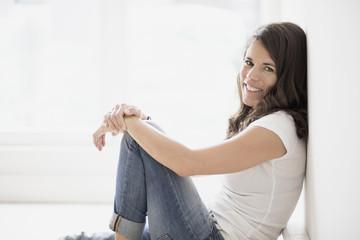 Portrait of beautiful mature woman smiling