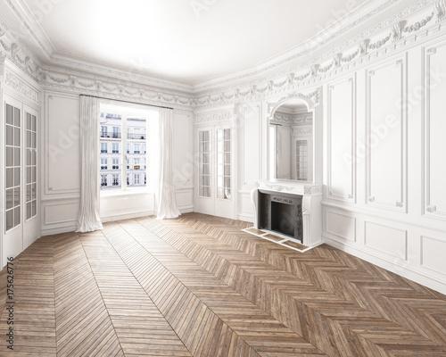 Moderne Altbauwohnung Mit Stuck Und Parkettboden Stock Photo And