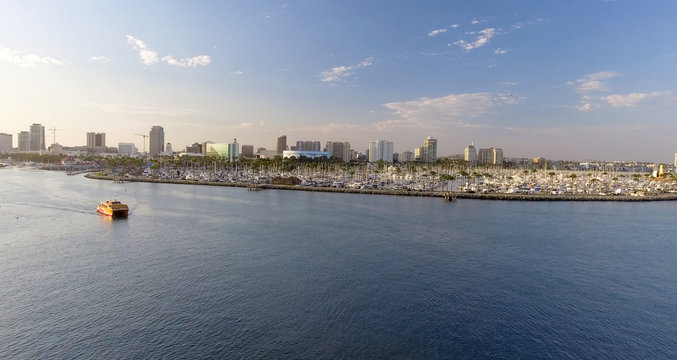 Aerial view of Long Beach, CA