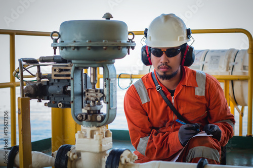 U0026quot Operator Or Worker Recording Operation Data Of Oil And