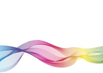 Poster de jardin Abstract wave Arrière plan, fond, lignes colorées