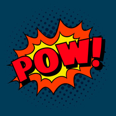 Pow! Pop art cartoon comic explosion.