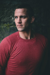 Handsome Caucasian  Man Portrait