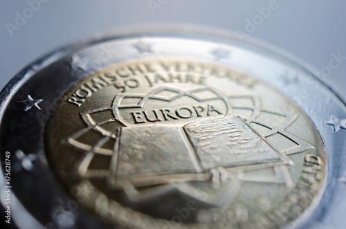 2 Euro Münze Sonderprägung Aus Dem Jahr 2007 Stockfotos Und