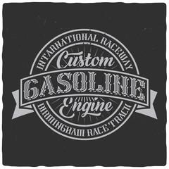 Vintage label design with lettering composition on dark background. T-shirt design.