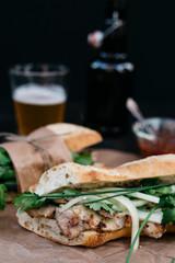 Traditional Banh Mi Vietnamese sandwich