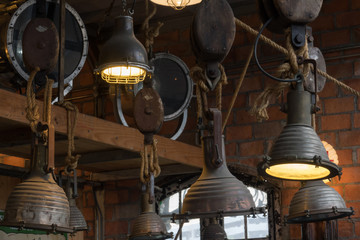Vintage lamp hang for decoration