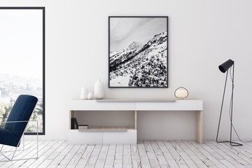 Wall Mural - Modern living room with picture