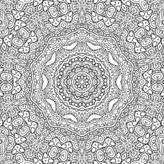 Black and white outline concentric pattern