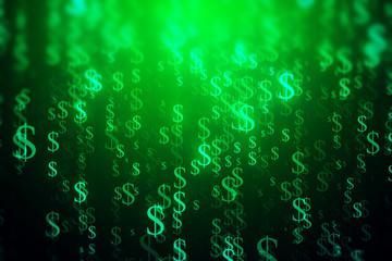Green dollar stream backdrop