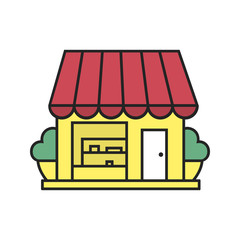 Small shop color icon