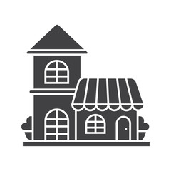 Restaurant, cafe glyph icon