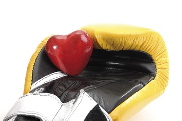 Heart in a boxing glove