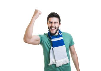Bearded football fan