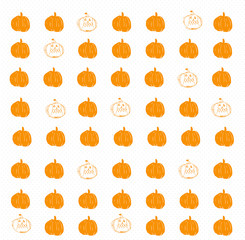 Halloween pumpkin vector background