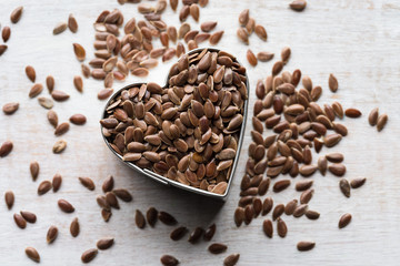 Heart healthy flax seeds
