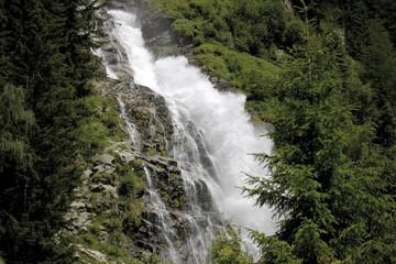 Stuibenfall Waterfalls near Umhausen, Oetztal, Tyrol, Austria, Europe