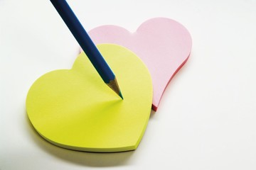 Heart-shaped notepads