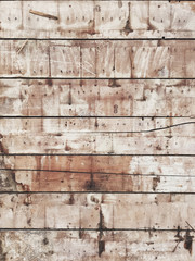 Exposed wood siding from old house wall
