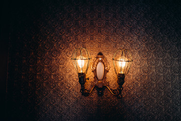 Light fixture on wall