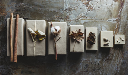 Gifts with natural decoration