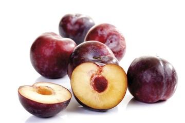 Red plums (Prunus)