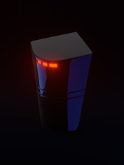 Internet router on dark background with copy space 3d illustration