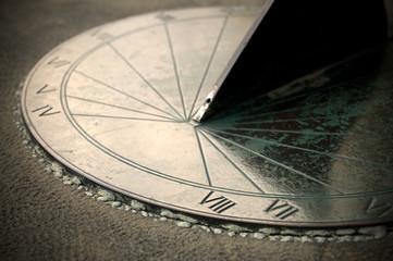 Close View of Solar Clock or Sundial