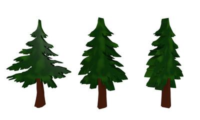 Tannenbaum im Holzfiguren-Stil