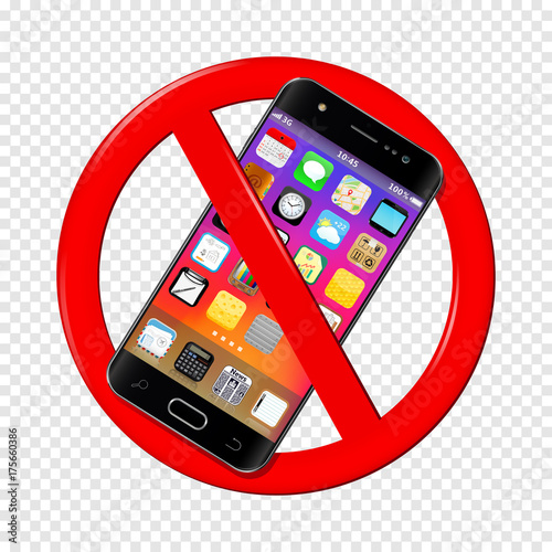 No cell phone sign isolated on transparent background stock image no cell phone sign isolated on transparent background voltagebd Choice Image