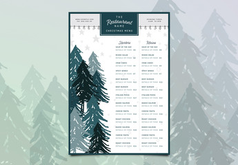 Christmas Menu Layout 4