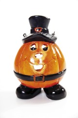 Halloween pumpkin (Jack-O-Lantern) tea light holder, party decoration