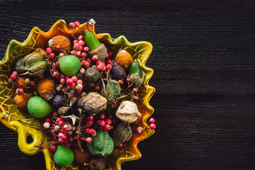 Assorted Specimen on Dark Table