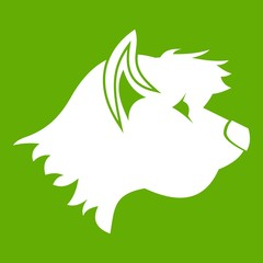 Terrier dog icon green