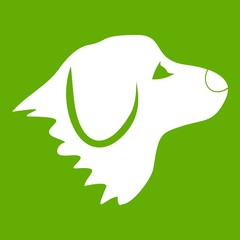 Retriever dog icon green