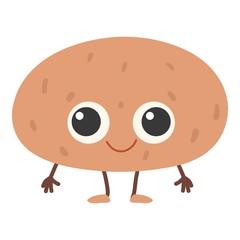 Potato icon, cartoon style