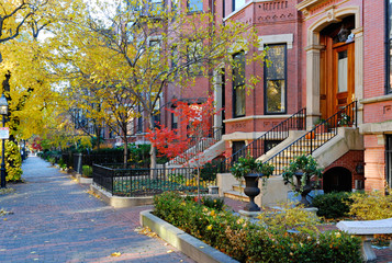 Boston Back Bay In The Fall