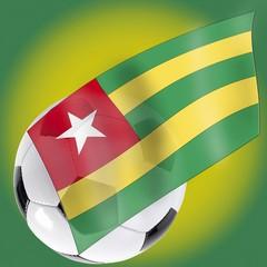 Football and Togo flag