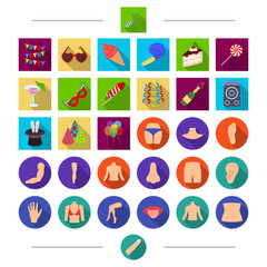 Part, holiday, entertainment and other web icon in cartoon style. Finger, human, body, icons in set collection.