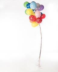 Ballons on white background