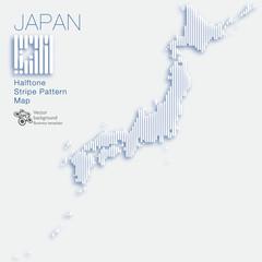 日本地図 #Japan Map_Stripe Pattern_Vector Graphics