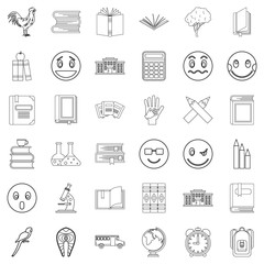 Bookmark icons set, outline style