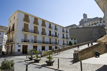Old town of Eivissa, Dalt Vila, Ibiza, Baleares, Spain, Europe