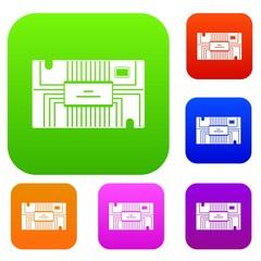 Microchip set color collection