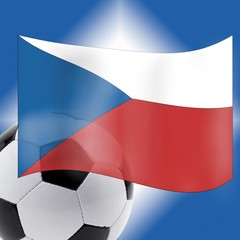 Football and Czech Flag