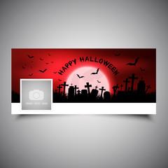 Fototapete - Halloween timeline cover design