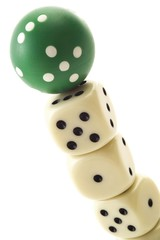 Dice, square and round