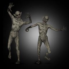 Fototapete - 3D Halloween zombies