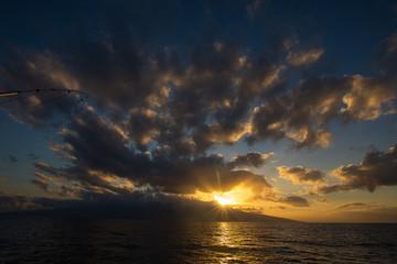 Beautiful sunrise on a tropical island